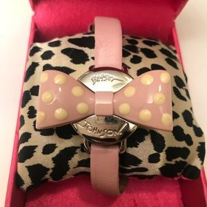 Rare 🎀 BETSEY JOHNSON Polka Dotted Bow Watch